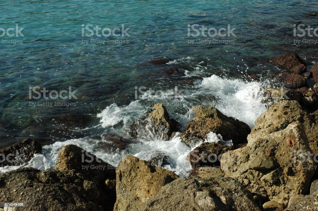 Wellen / Brandung am Mittelmeer - Spanien royalty-free stock photo