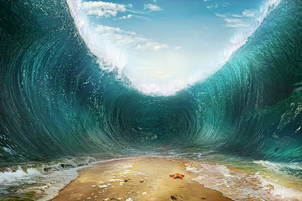 Waves. The seas are being parted