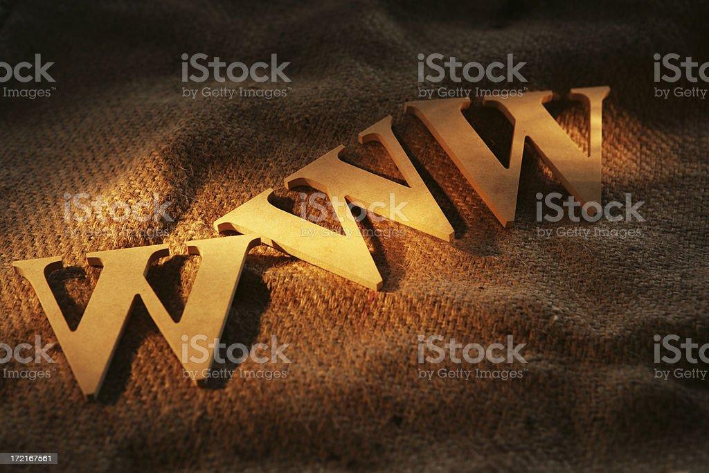 Wavey WWW royalty-free stock photo
