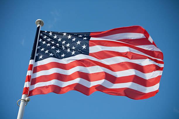 Winken Amerikanische Flagge – Foto