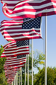 istock Waving American Flags. 607506094