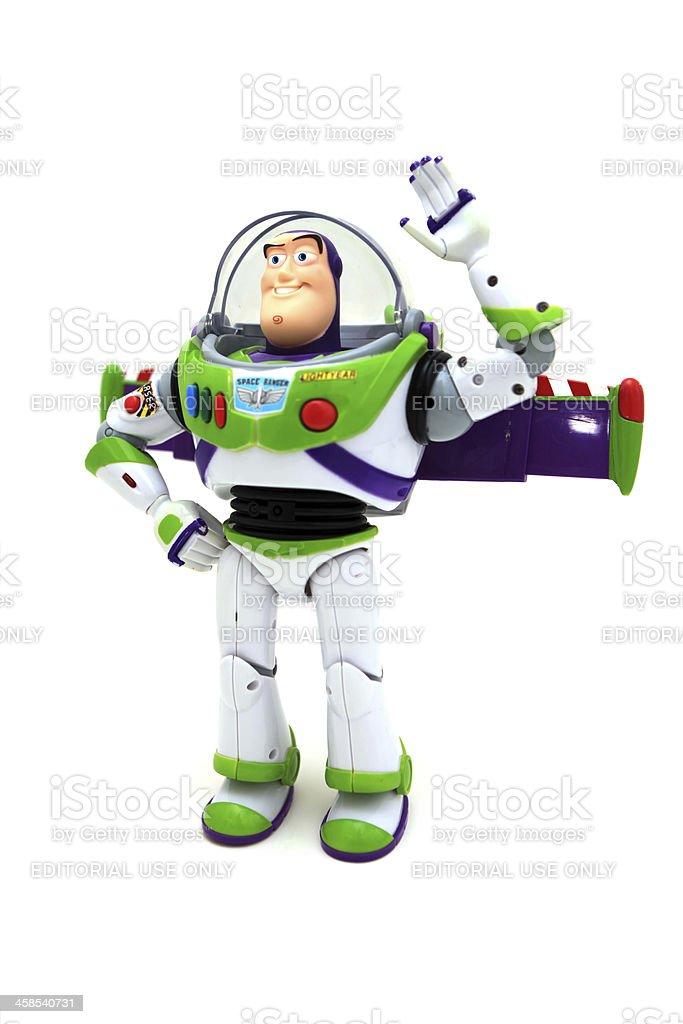waving Buzz Lightyear Toy stock photo