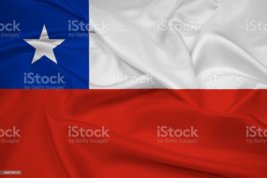 Acenando a bandeira Chile - foto de acervo