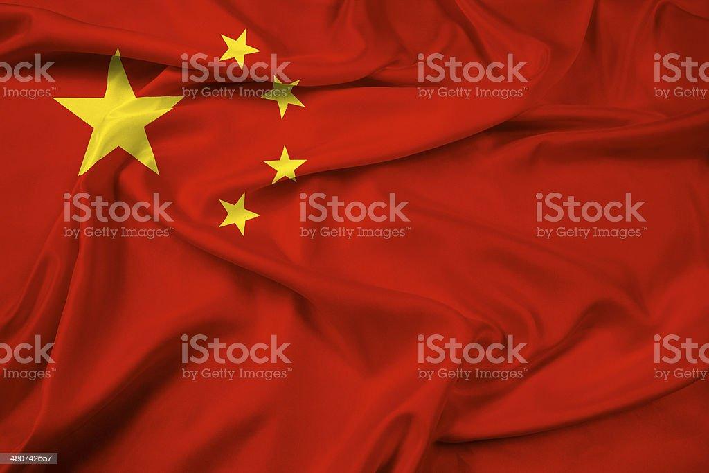 Waving China Flag stock photo