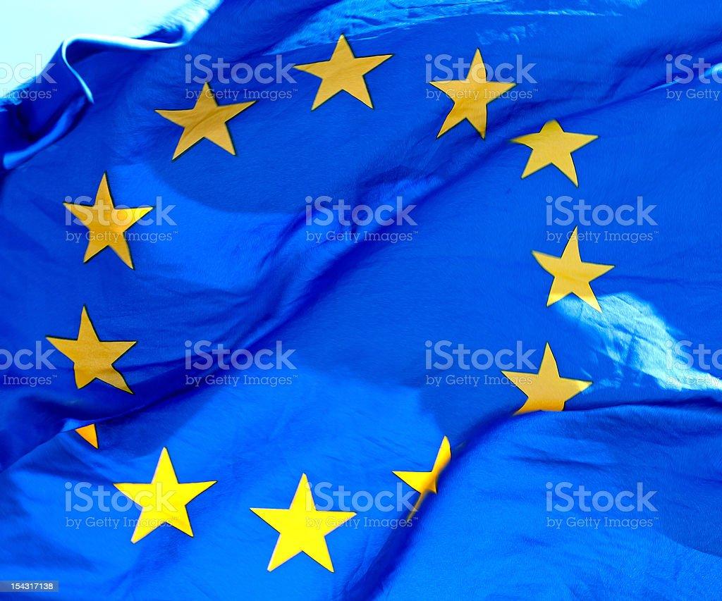 Waving European Union Flag royalty-free stock photo