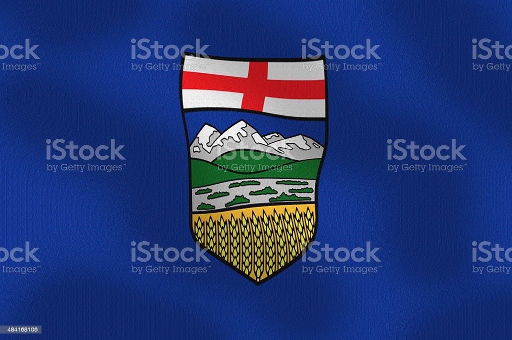 Waving Flag of Alberta Canada Series stock photo