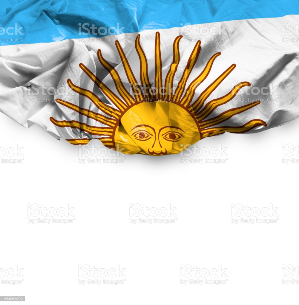 Agitando bandera de Argentina - foto de stock