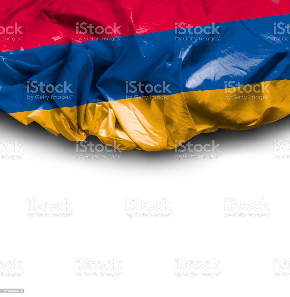 Waving Flag of Armenia royalty-free stock photo
