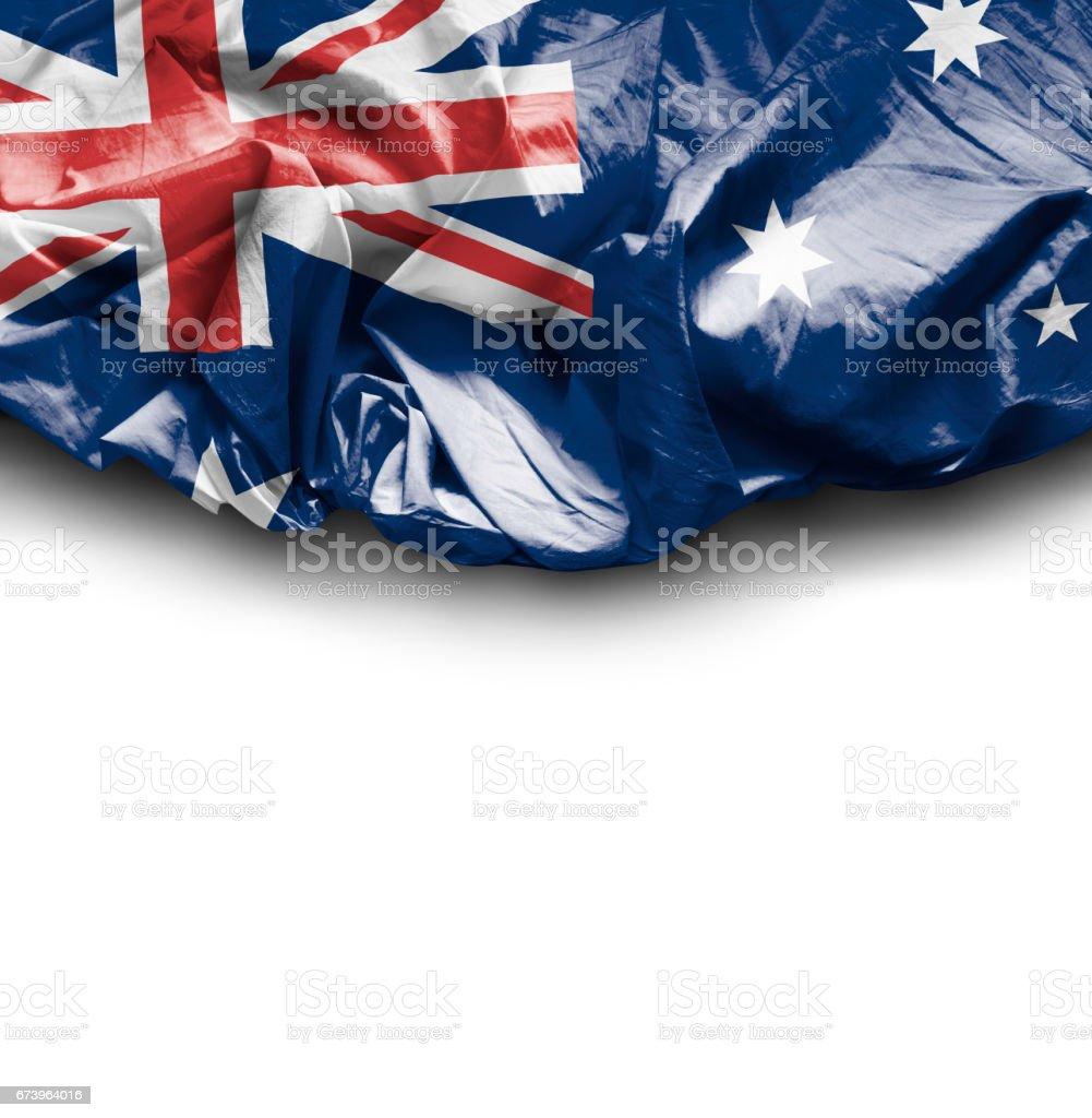 Waving Flag of Australia royalty-free stock photo