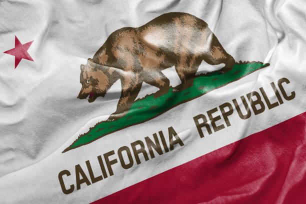 Bandera de California, Estados Unidos - foto de stock
