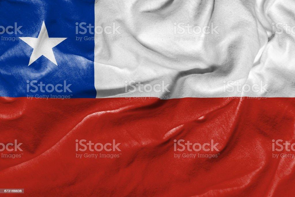 Acenando a bandeira do Chile - foto de acervo