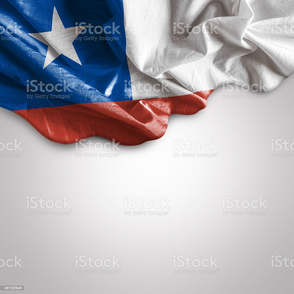 Waving flag of Chile, South America stock photo