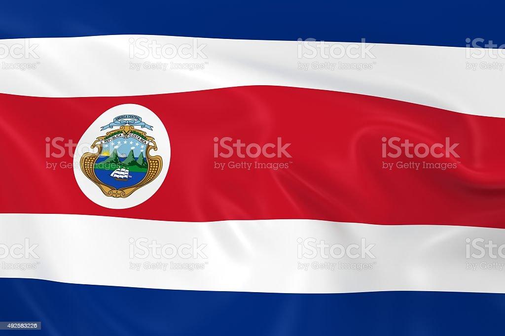 Waving Flag of Costa Rica stock photo