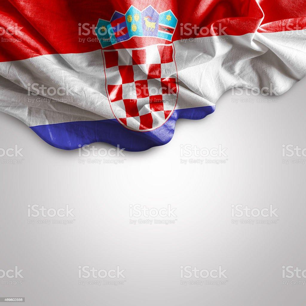 Sventolare la bandiera della Croazia, Europa - foto stock