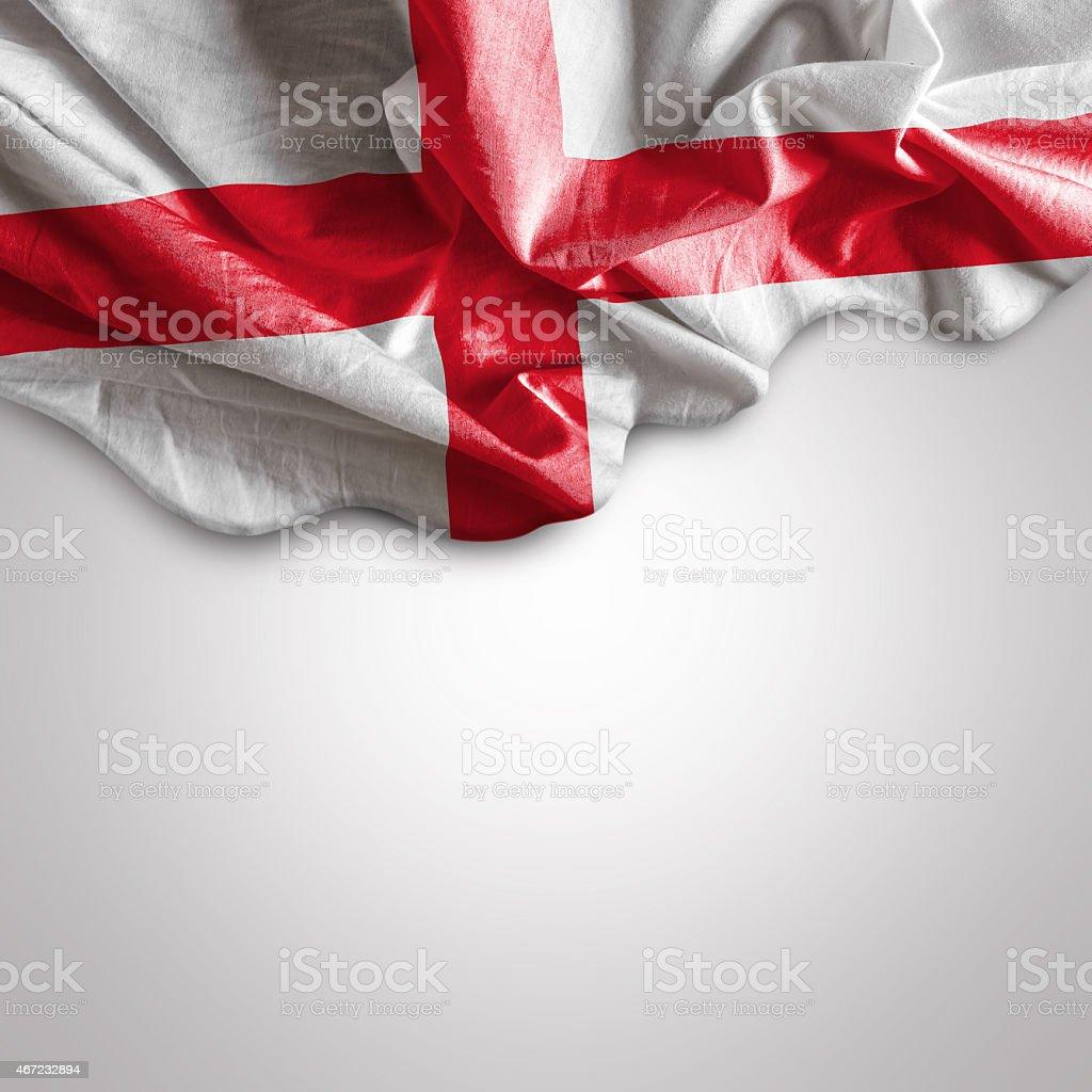 Waving flag of England, UK stock photo