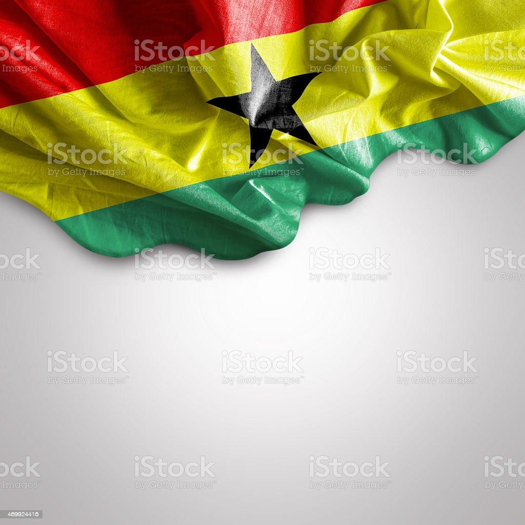 Waving flag of Ghana stock photo