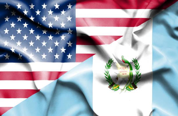 Bandera de Guatemala y Estados Unidos - foto de stock