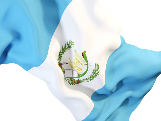 Agitando bandera de guatemala - foto de stock
