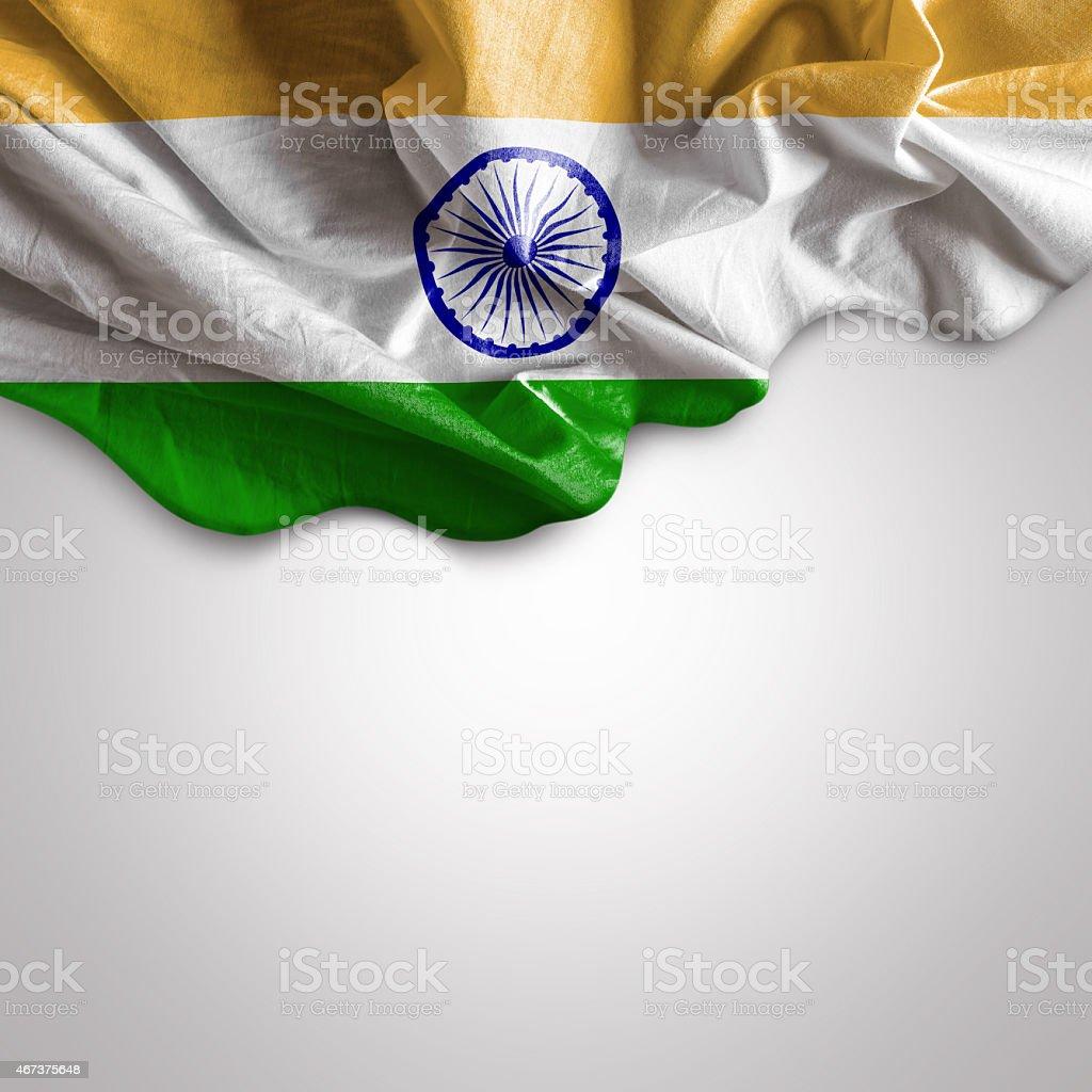 Acenando a bandeira da Índia - foto de acervo