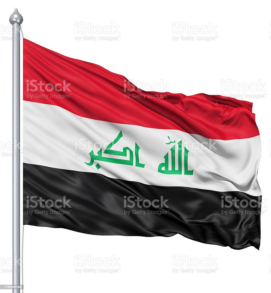 Waving flag of Iraq royalty-free stock photo