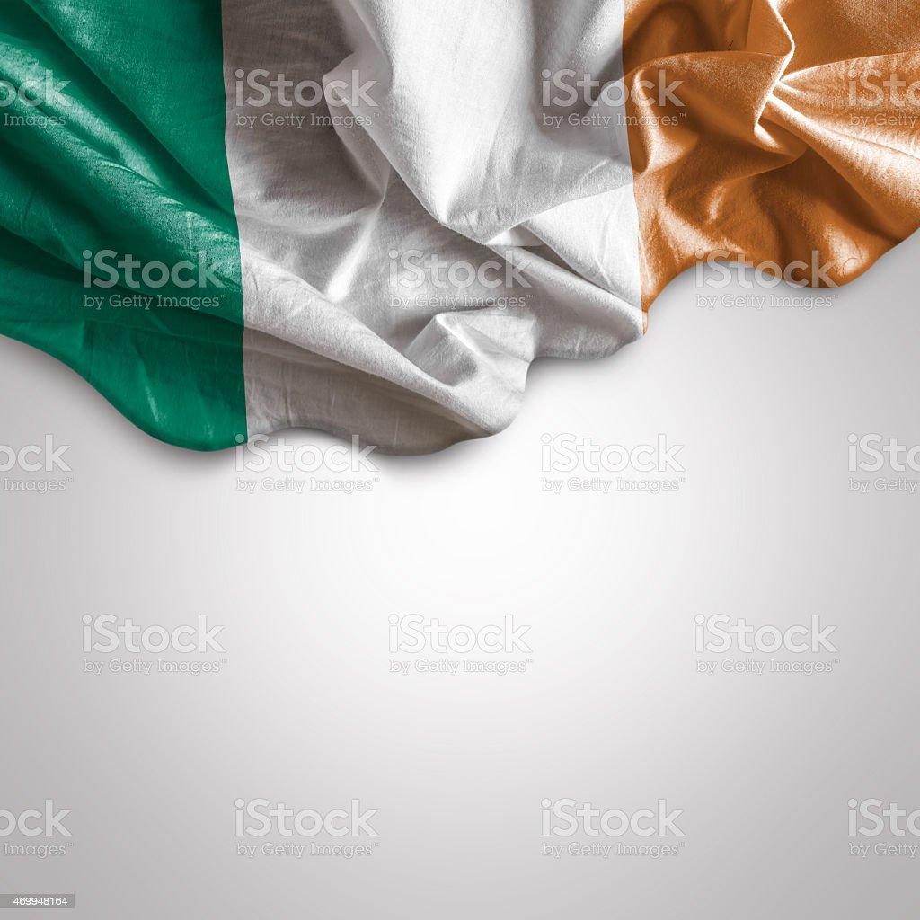 Waving flag of Ireland stock photo