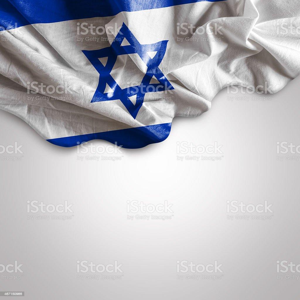 Waving flag of Israel stock photo