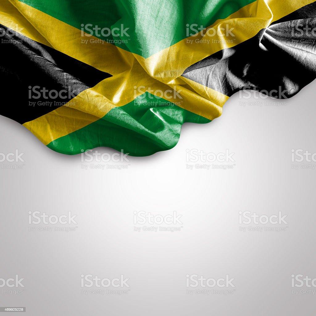 Acenando a bandeira da Jamaica - foto de acervo