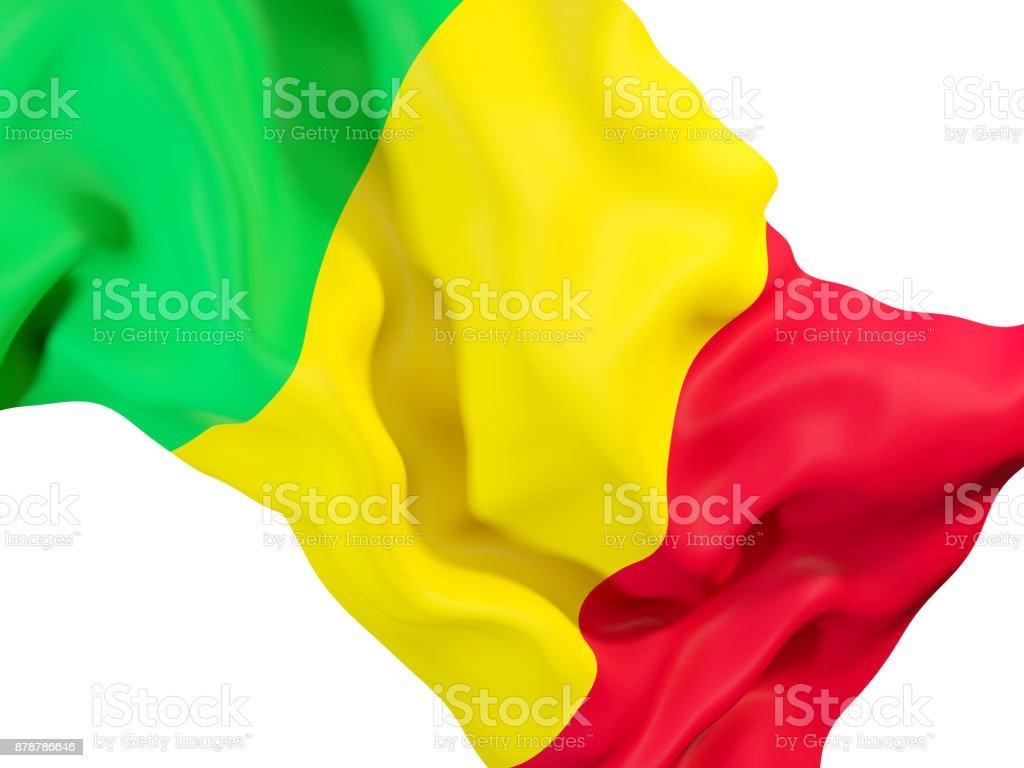Acenando a Bandeira de mali - foto de acervo