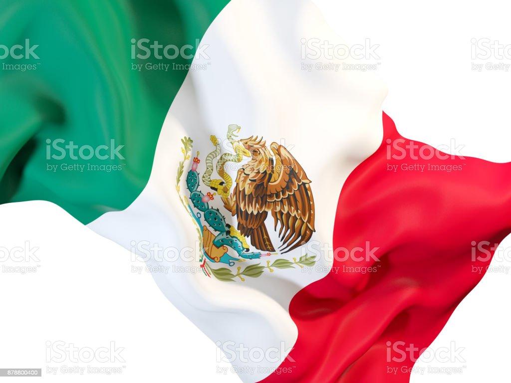 Bandera de México agitando - foto de stock