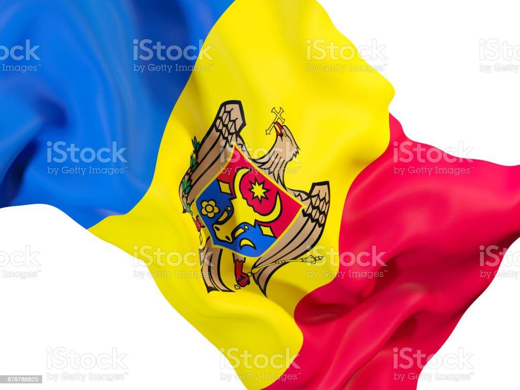 Waving flag of moldova stock photo