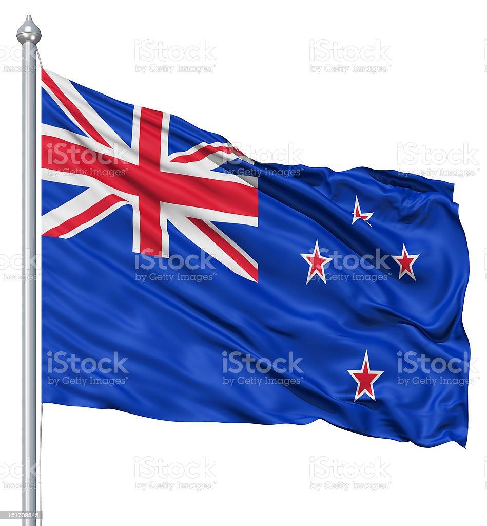 Waving flag of New Zealand royalty-free stock photo