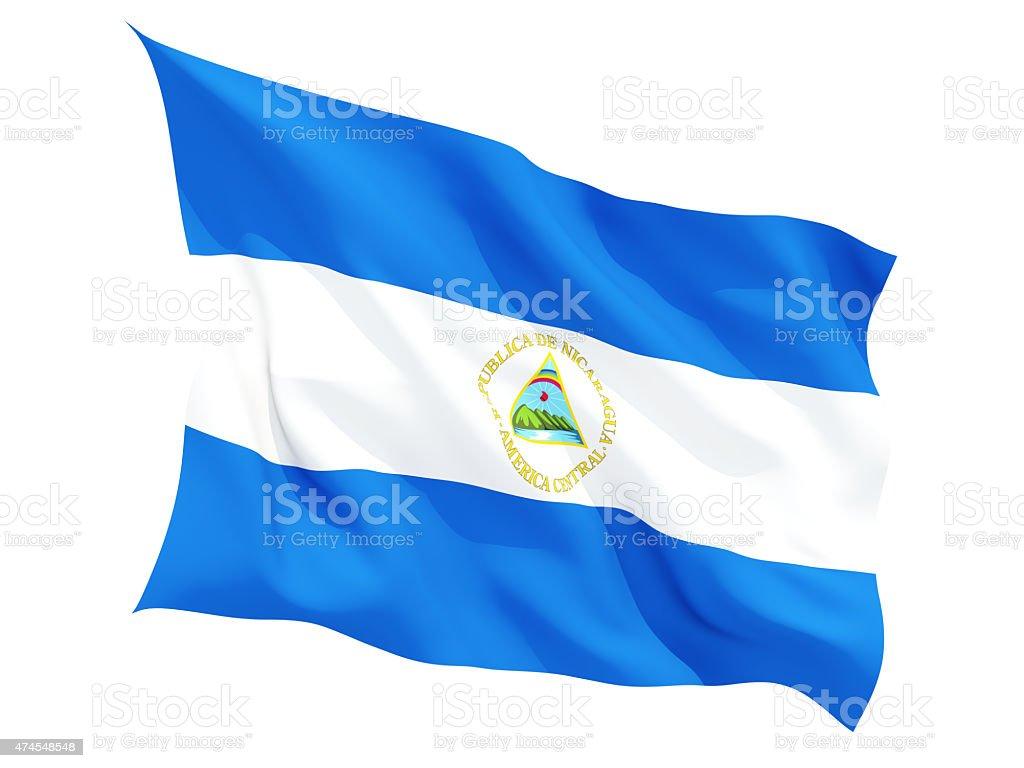 Agitando bandera de nicaragua - foto de stock