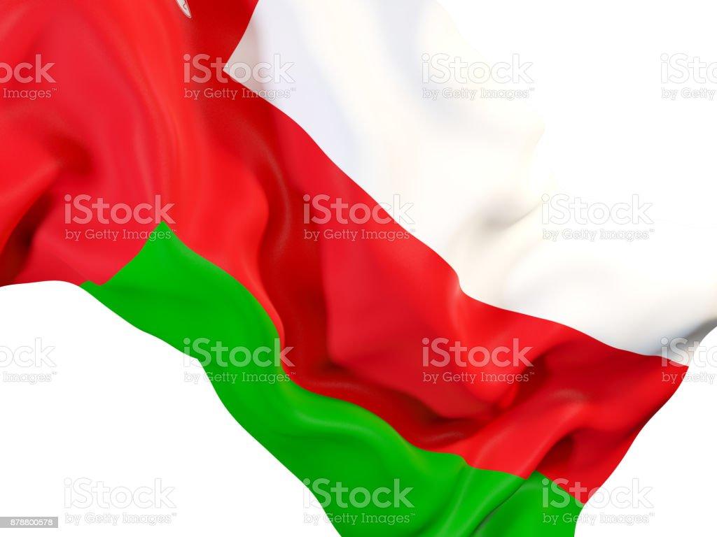 Waving flag of oman stock photo
