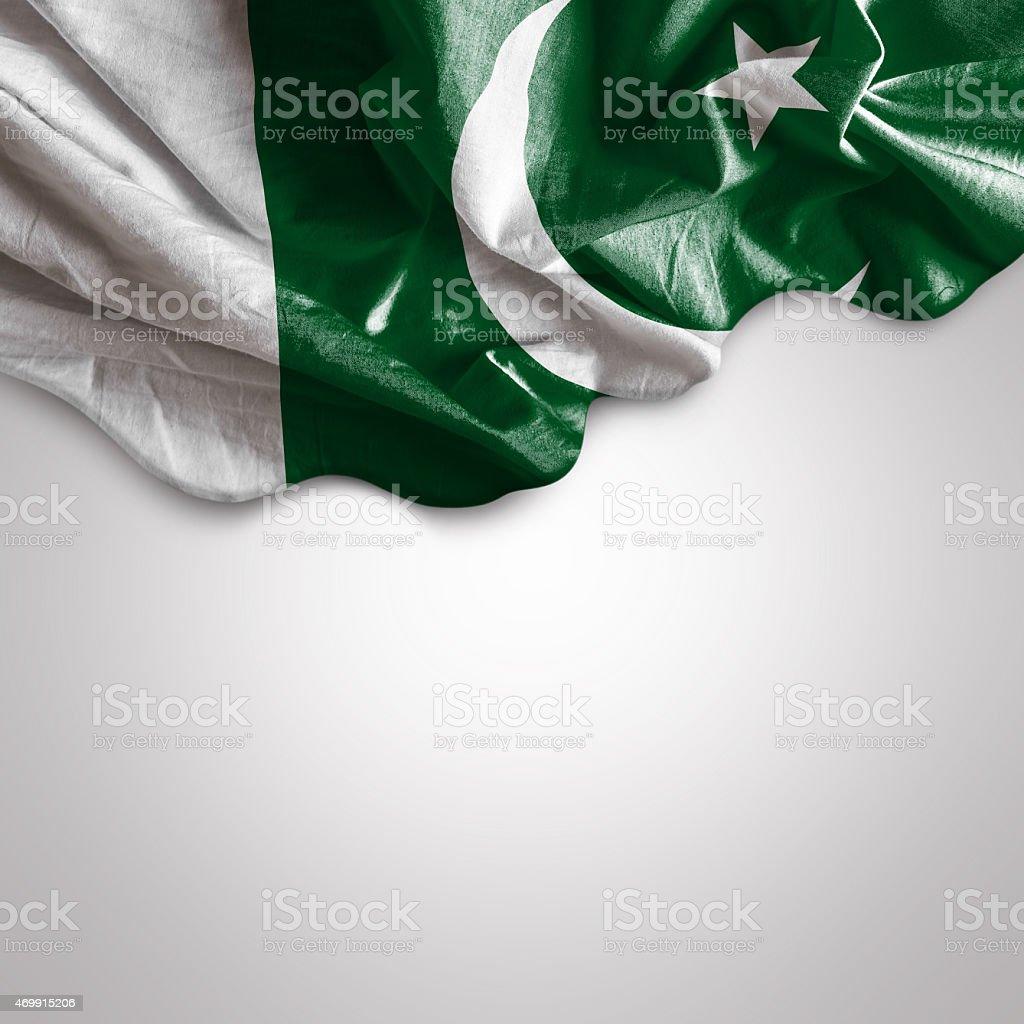 Waving flag of Pakistan stock photo
