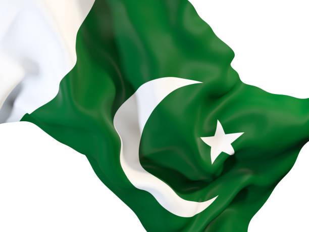 waving flag of pakistan - pakistani flag stock photos and pictures