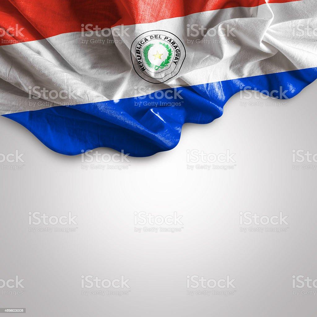 Agitando bandera de Paraguay, de América del Sur - foto de stock