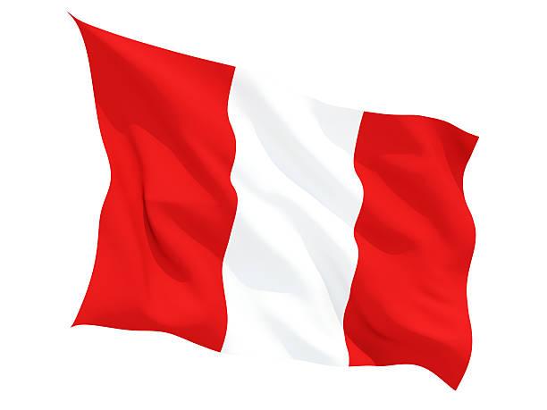Agitando bandera de Perú - foto de stock