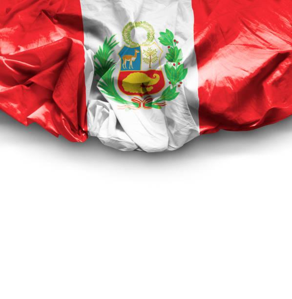 Waving Flag of Peru stock photo