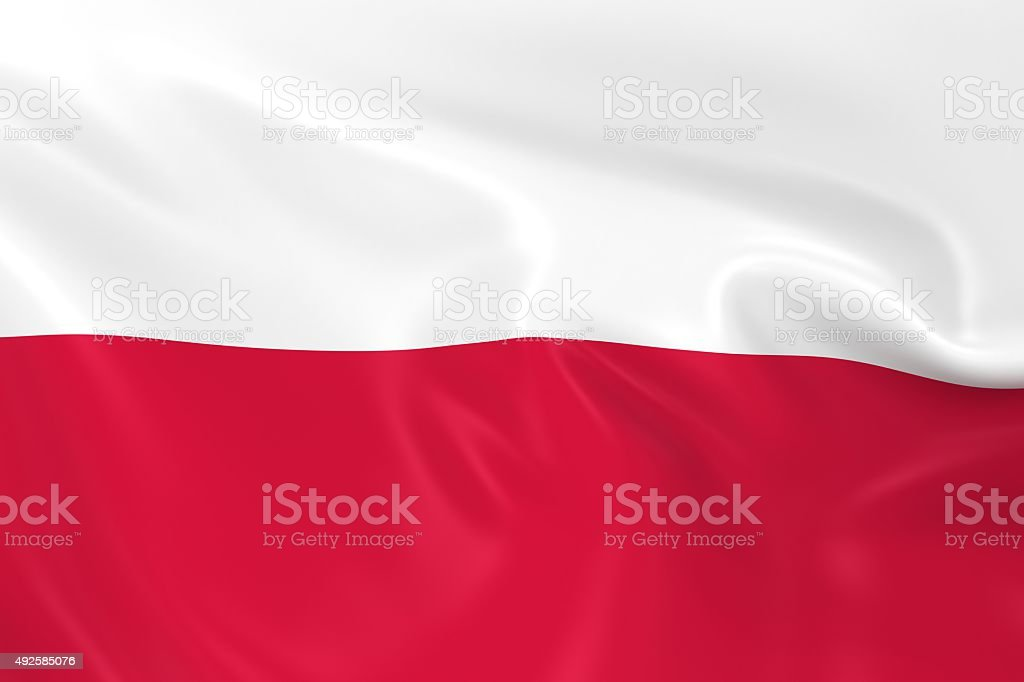 Waving Flag of Poland stock photo