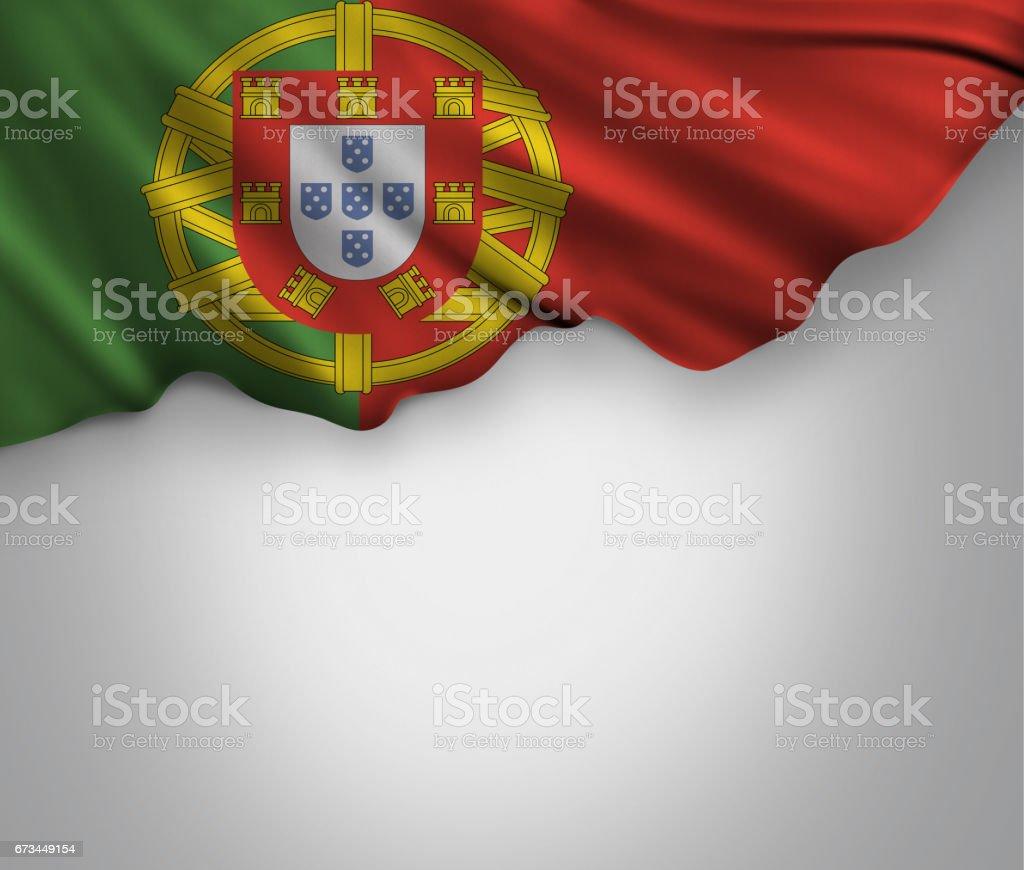 Agitando bandera de Portugal - foto de stock