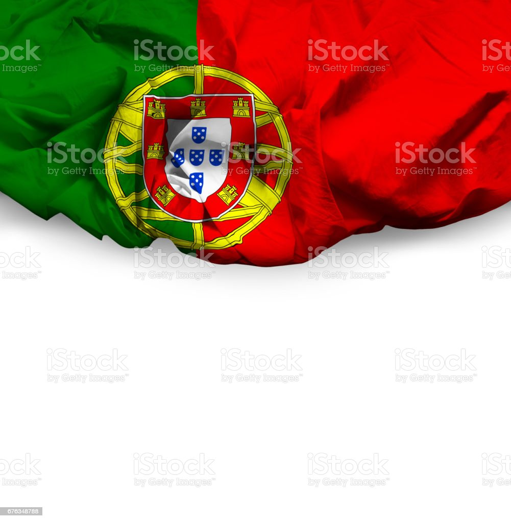 Waving Flag of Portugal stock photo