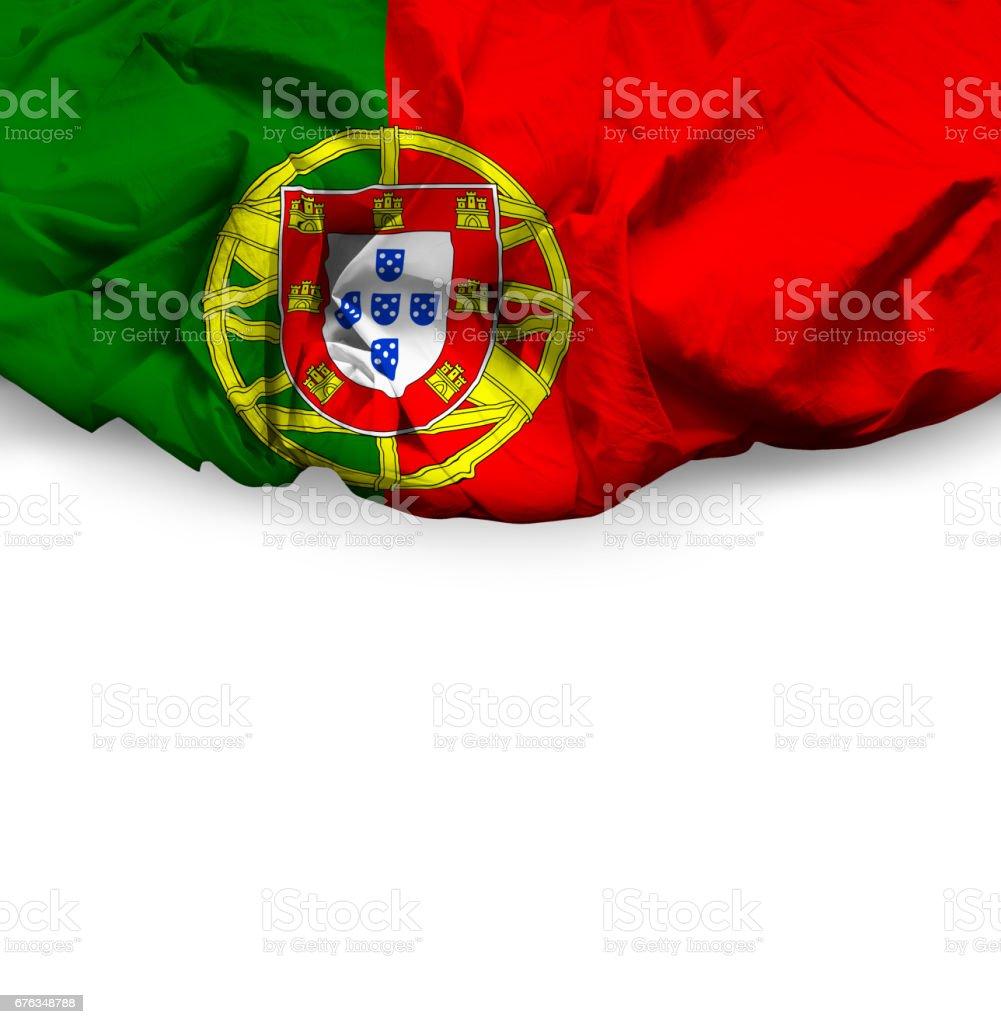 Waving Flag of Portugal - fotografia de stock
