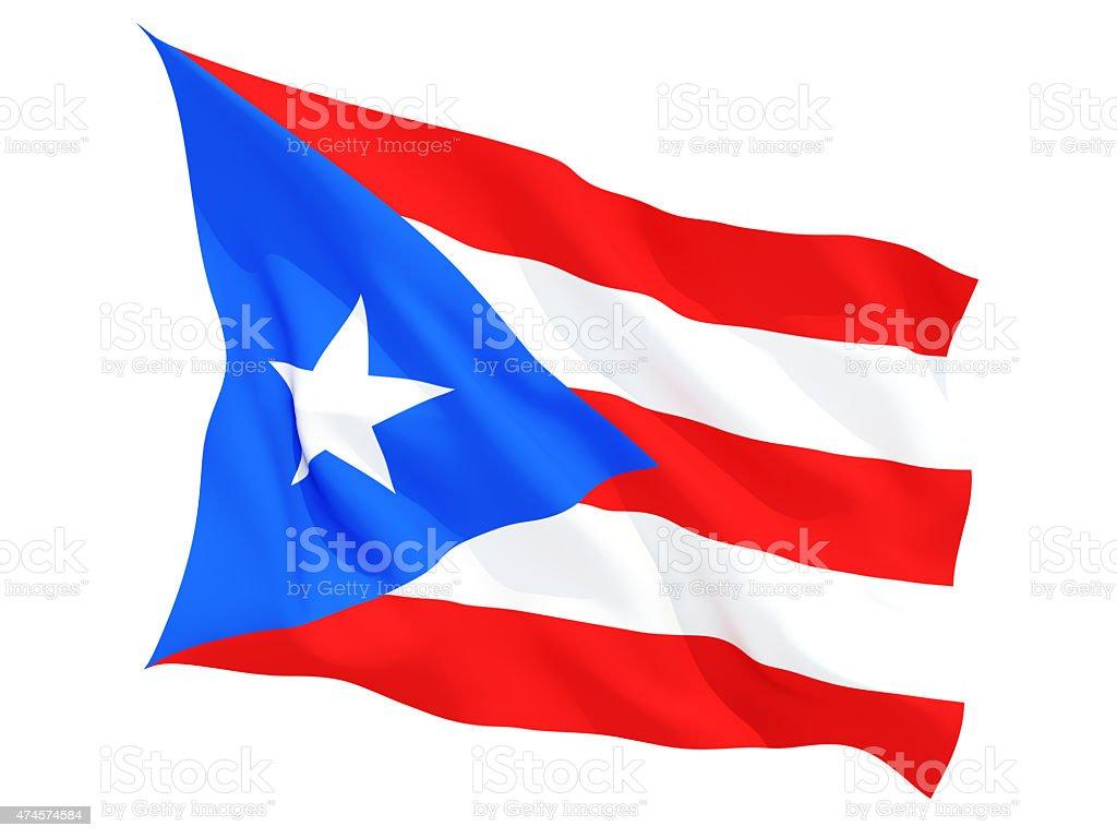 Agitando bandera de puerto rico - foto de stock