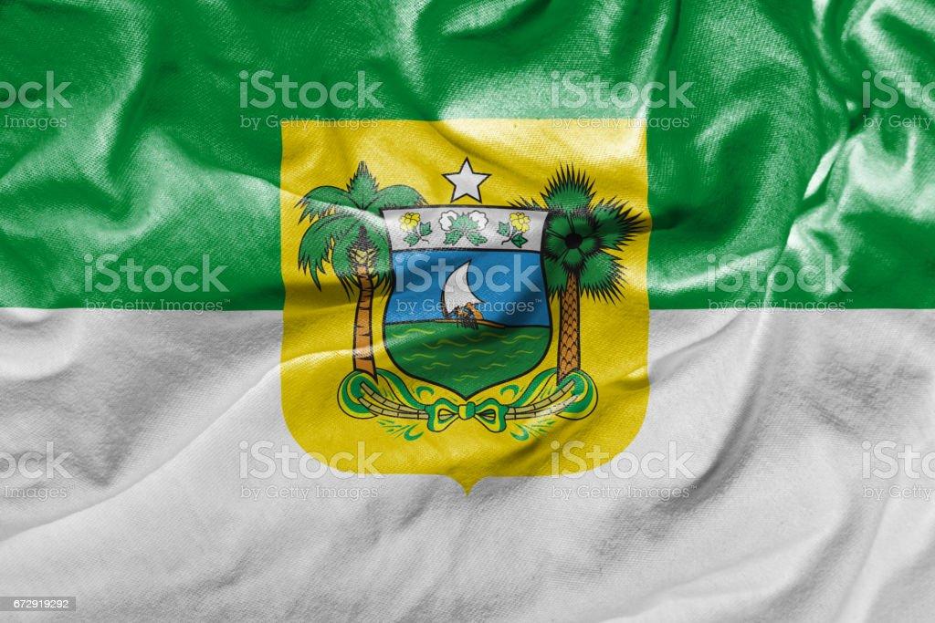 Waving Flag of Rio Grande do Norte, Brazil stock photo