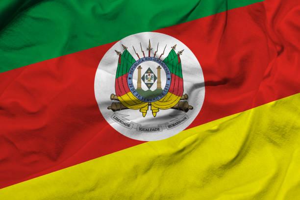 waving flag do rio grande do sul, brasil - rio grande do sul - fotografias e filmes do acervo