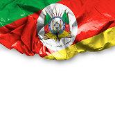 Waving Flag of Rio Grande do Sul, Brazil