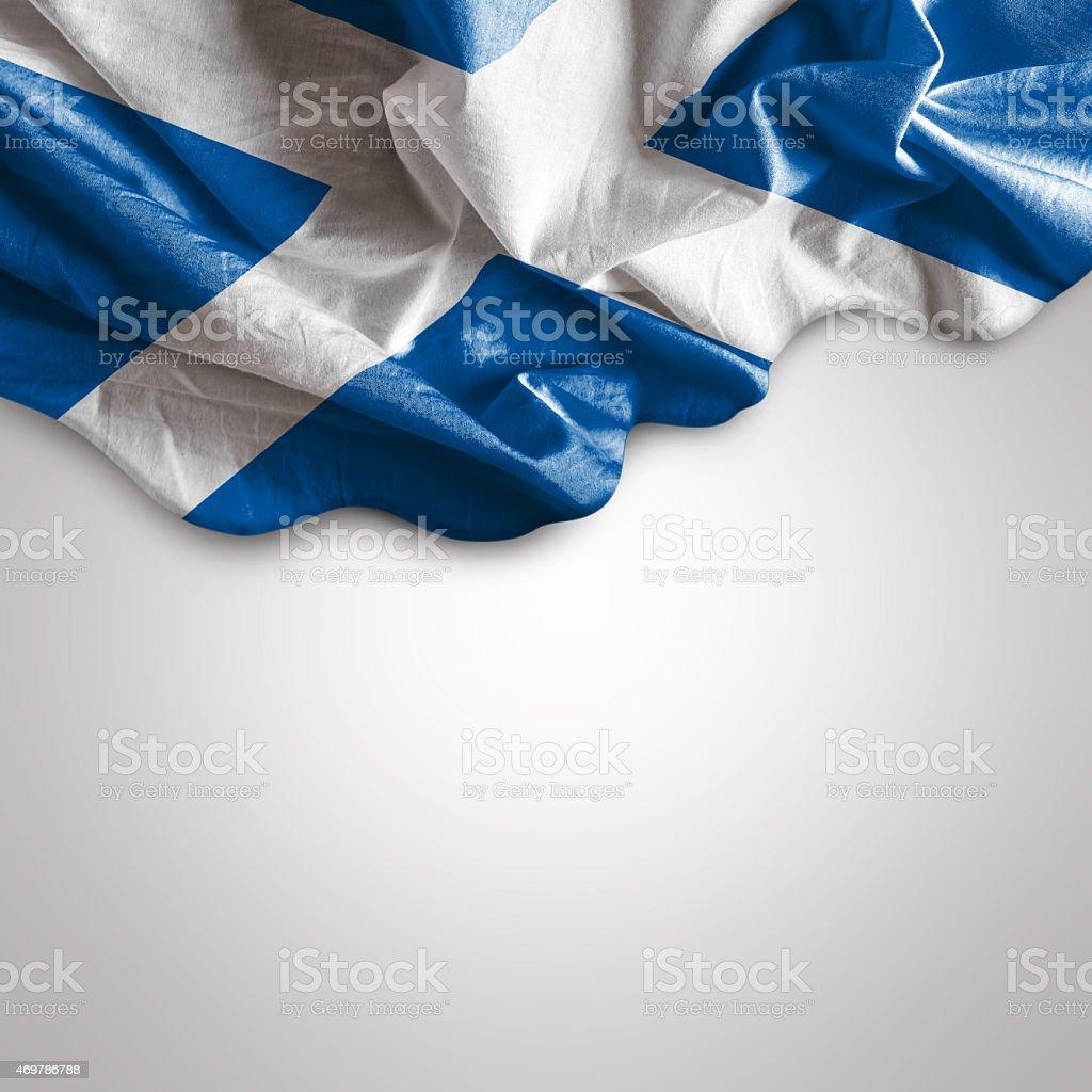 Waving flag of Scotland, Europe stock photo