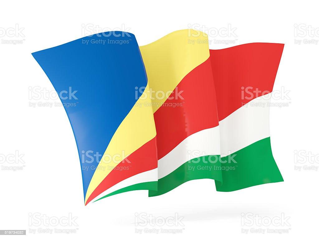 Waving flag of seychelles. 3D illustration stock photo
