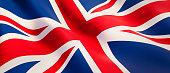 istock Waving flag of United Kingdom 1180569201