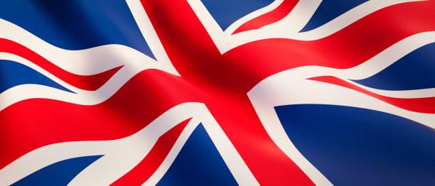 Bandera ondulante del Reino Unido - foto de stock